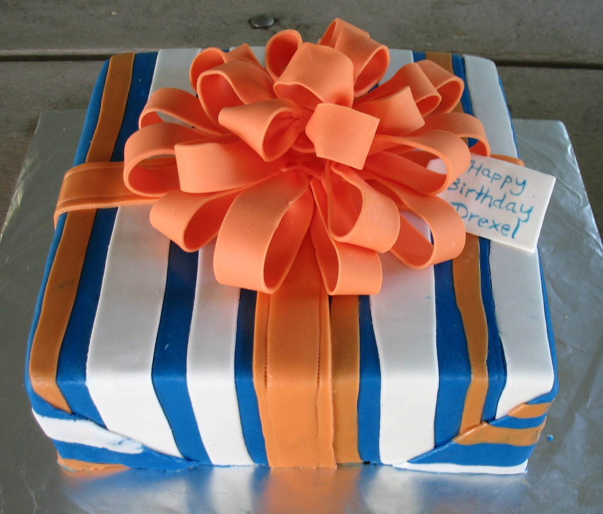 Birthday Present Cake Blue Ridge Buttercream